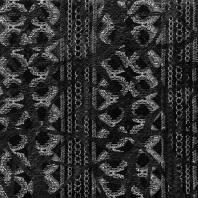 Maille extensible noire et argent effet simili cuir