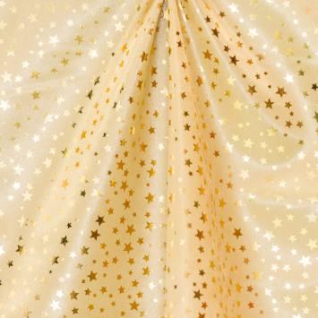 Satin or à étoiles dorées