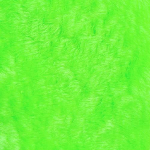 Fausse fourrure unie verte