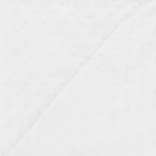 Minky blanc relief pois