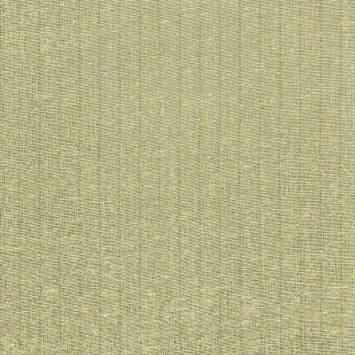 Bourette de soie verte rayures rouges