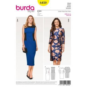 Patron Burda 6450 : Robe Taille : 34-44