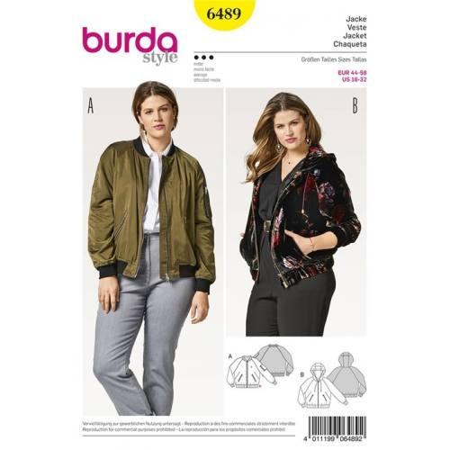 Patron Burda 6489 : Veste Taille 44-58