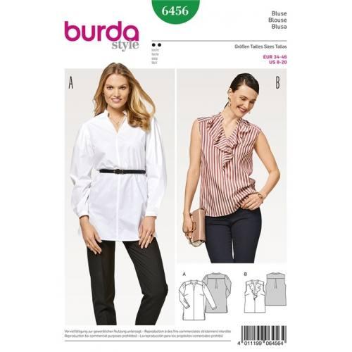 Patron Burda 6456 : Blouse Taille 34-46