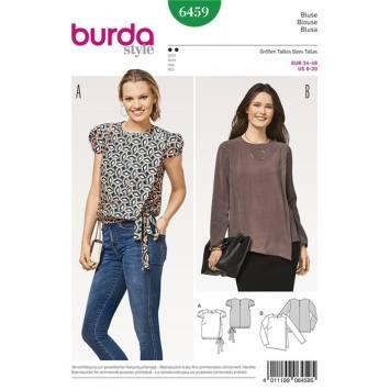 Patron Burda 6459 : Blouse Taille : 34-46