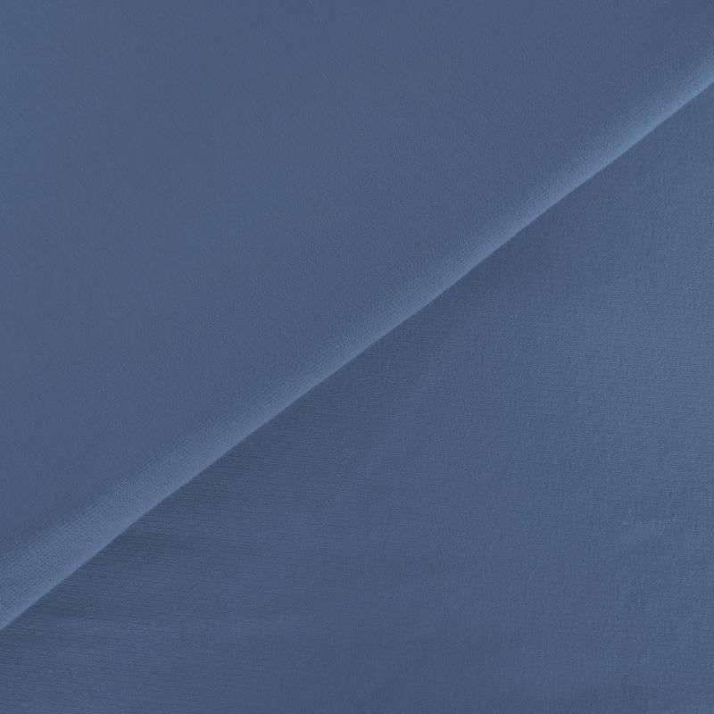 Tissu molleton uni bleu jean