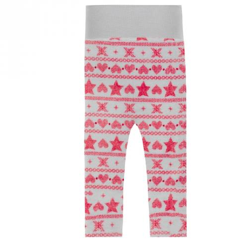 Pyjama tissu polaire blanc motif géométrique vermillon