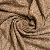Tissu coco effet tweed mordoré