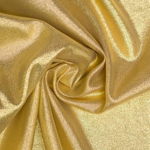 Tissu brillant pailleté doré