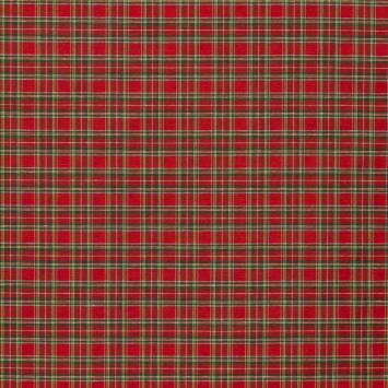 Tissu tartan rouge et vert