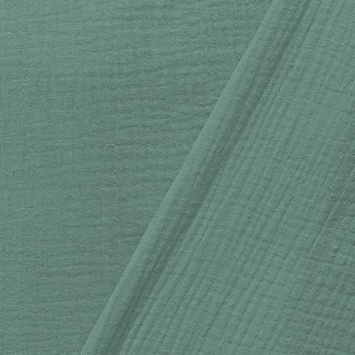 Double gaze unie vert amande