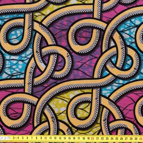Wax - Tissu africain lien pailleté 82