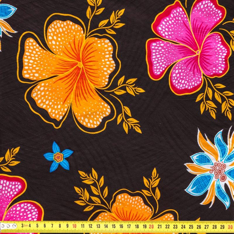 Wax Tissu Africain Enduit Chocolat Imprime A Fleurs Tissus Price