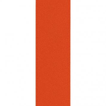 Ruban satin double face orange 25 mm