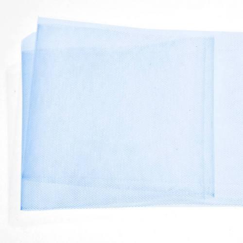 Ruban de tulle 10 cm bleu
