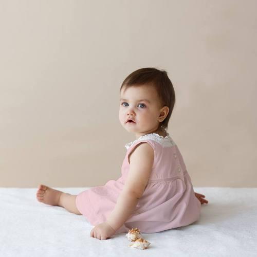 Voile de coton rose pastel