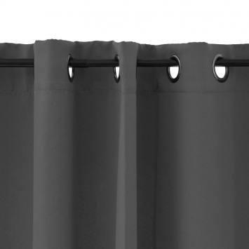 Rideau à oeillets obscurcissant anthracite 135x250 cm