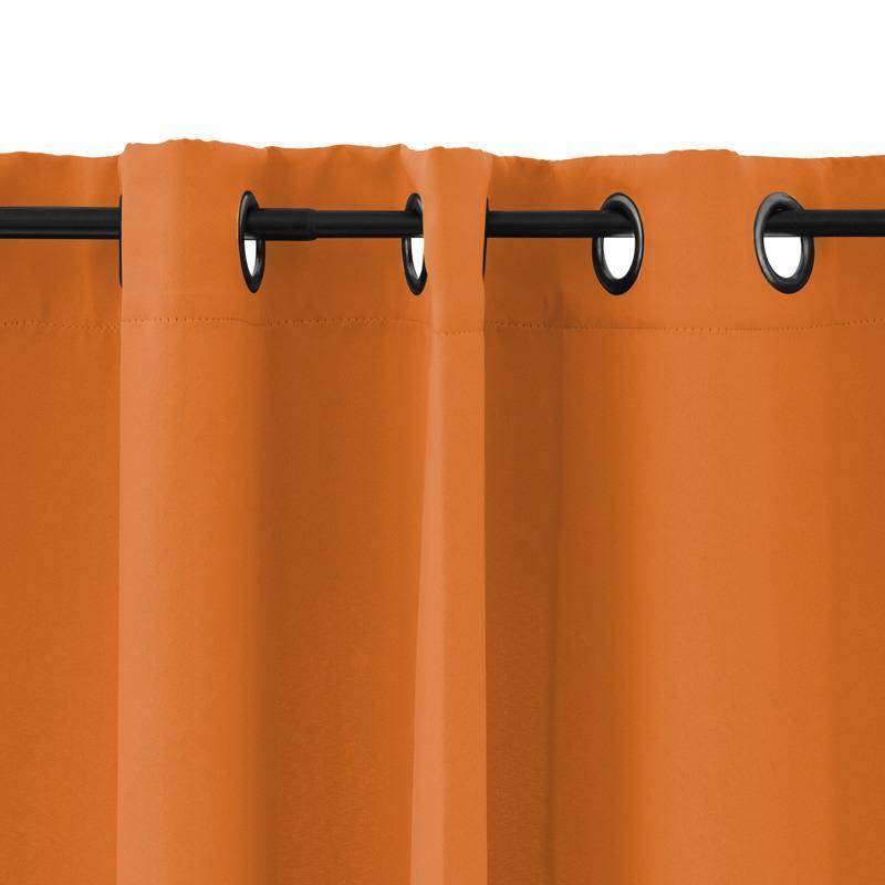 rideau oeillets obscurcissant orange 135x250cm pas cher tissus price. Black Bedroom Furniture Sets. Home Design Ideas