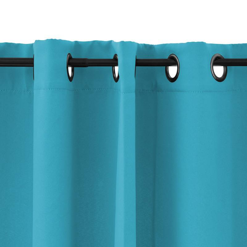 rideau oeillets obscurcissant bleu turquoise 135x250 pas cher. Black Bedroom Furniture Sets. Home Design Ideas