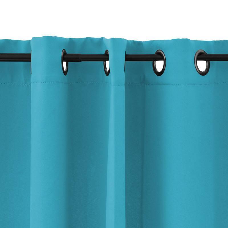 Rideau oeillets obscurcissant bleu turquoise 135x250 pas cher for Rideau turquoise