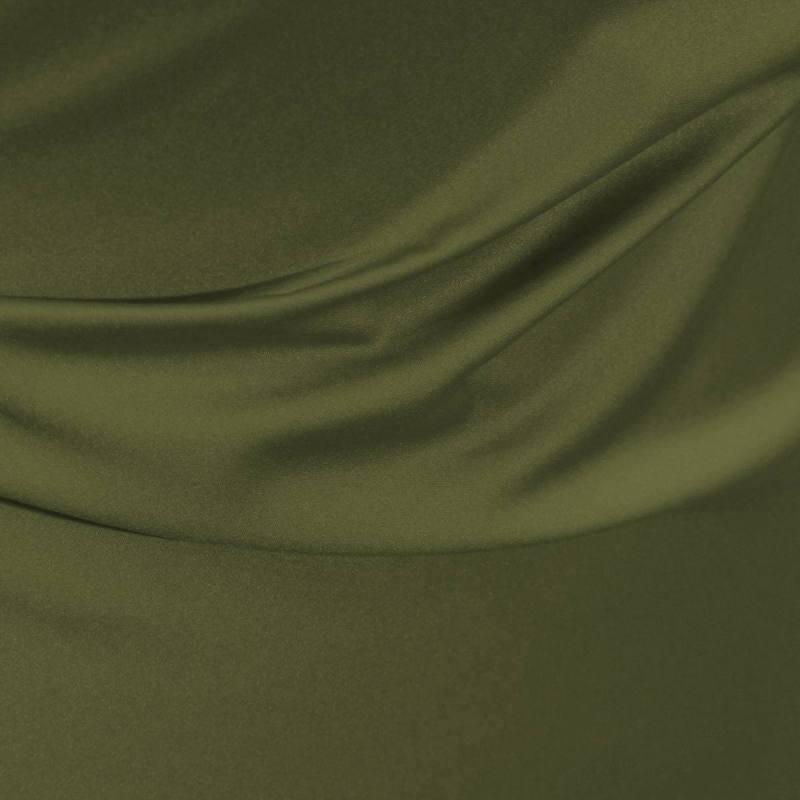 Satin microfibre royal vert olive pas cher tissus price - Quelle couleur avec vert olive ...