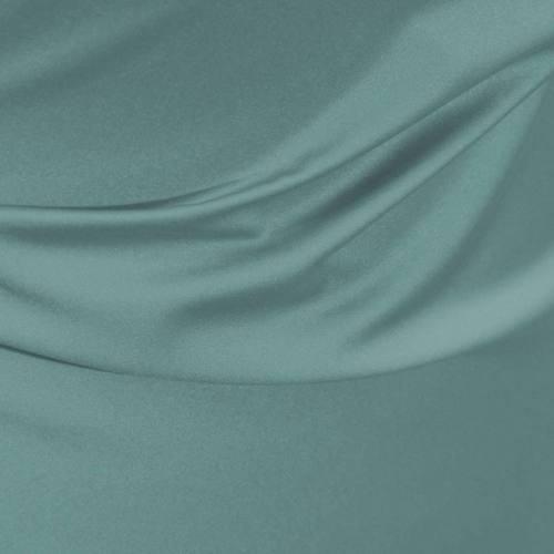 Satin microfibre royal vert d'eau