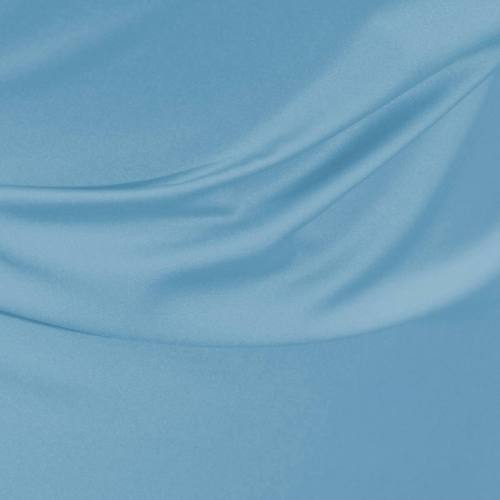 Satin microfibre royal bleu ciel