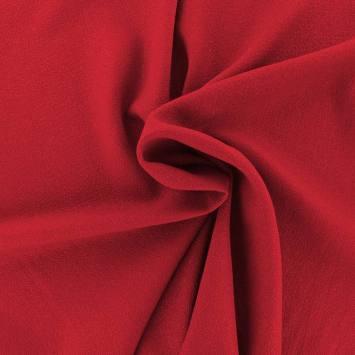 Tissu crêpe extensible bordeaux