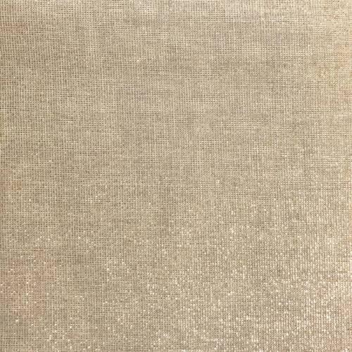 Tissu aspect lin pailleté or grande largeur