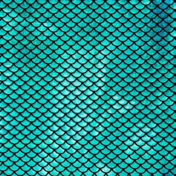 Lycra extensible sirène bleu