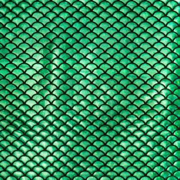 Lycra extensible sirène vert