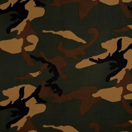 Jersey imprimé camouflage vert