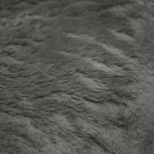 Fausse fourrure unie vert de gris