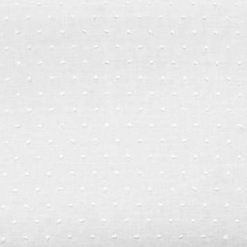 Voile de coton plumetis blanc pois blanc