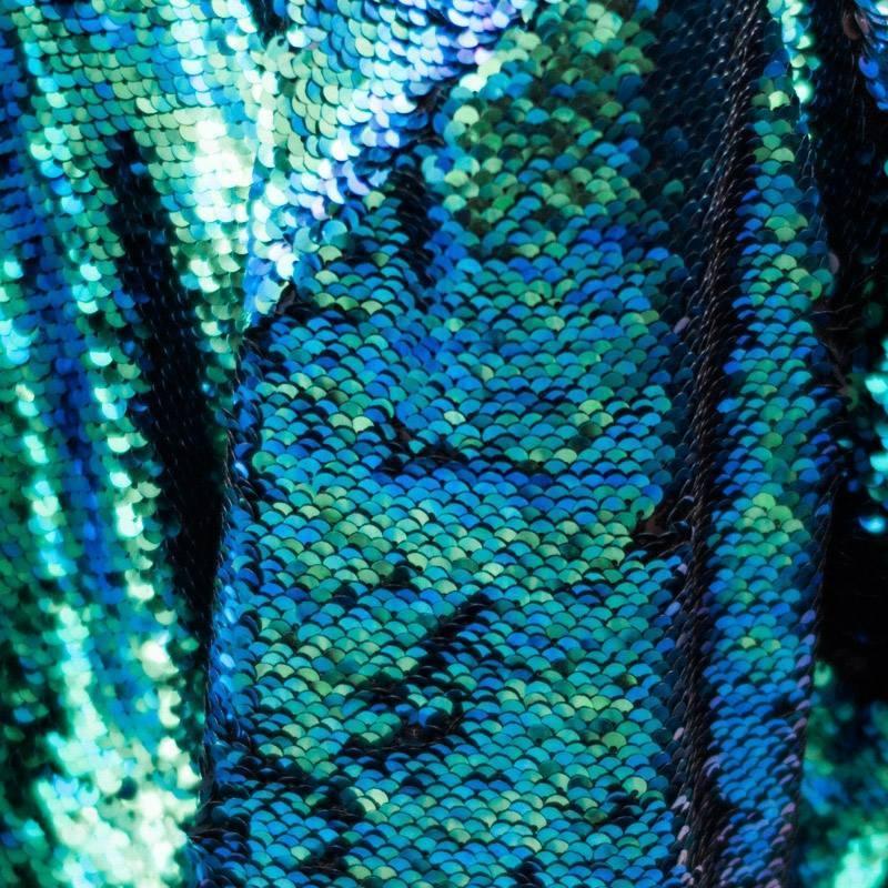coupon tissu sequins r versibles vert noir pas cher. Black Bedroom Furniture Sets. Home Design Ideas