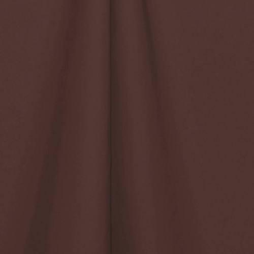Toile polyester unie marron glacé