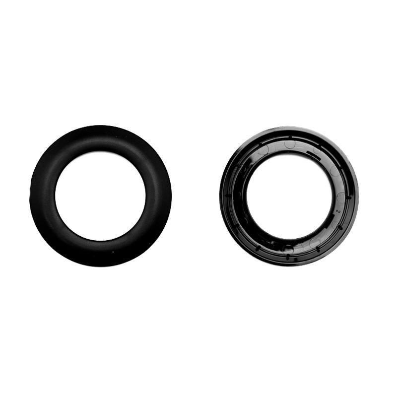Lot de 8 oeillets ronds clipsables noirs
