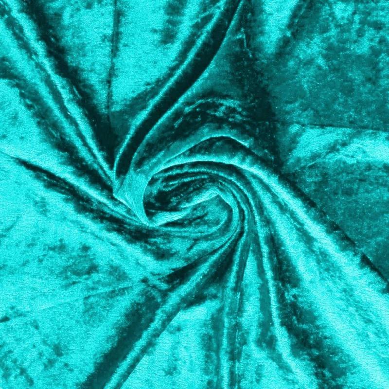 Panne de velours bleu lagon