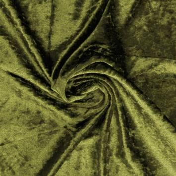 Panne de velours vert militaire