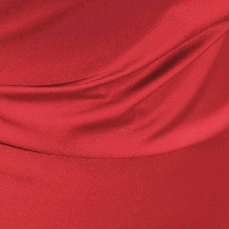 Satin microfibre royal rouge