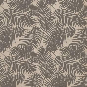Toile polycoton imprimé jungle gris