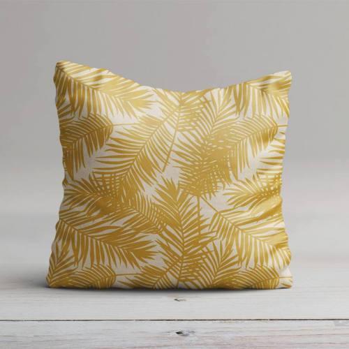 Toile polycoton imprimé jungle jaune