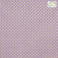 Coton imprimé éventails parme et ocres