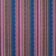 Tissu mexicain rayé bleu et violet