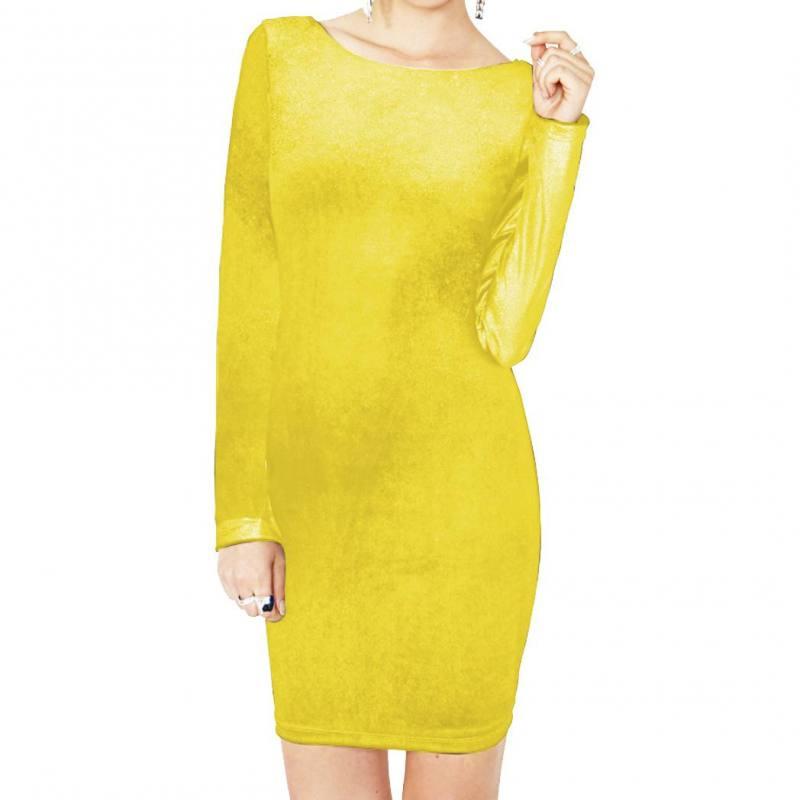 Panne de velours jaune citron