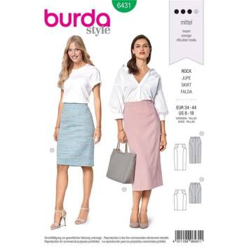 Patron Burda 6431 : Jupe Taille 34-44