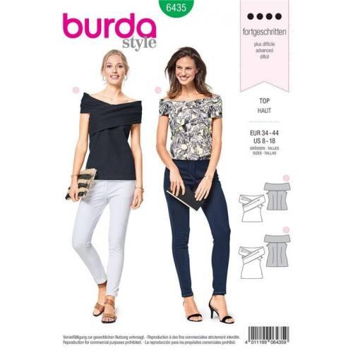 Patron Burda 6435 : Haut Taille 34-44