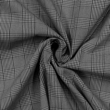 Tissu blanc à carreaux
