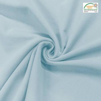 Velours cotelé fin bleu pastel