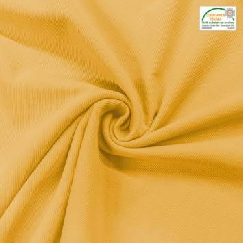 Velours cotelé fin jaune